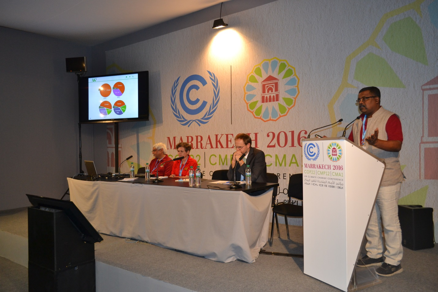 Dr. Soumen Maity presenting on LC3 at  COP22 Side Event
