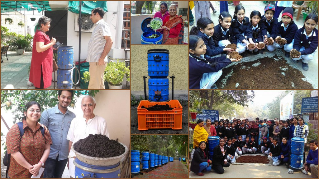 Creating Compost from household kitchen waste