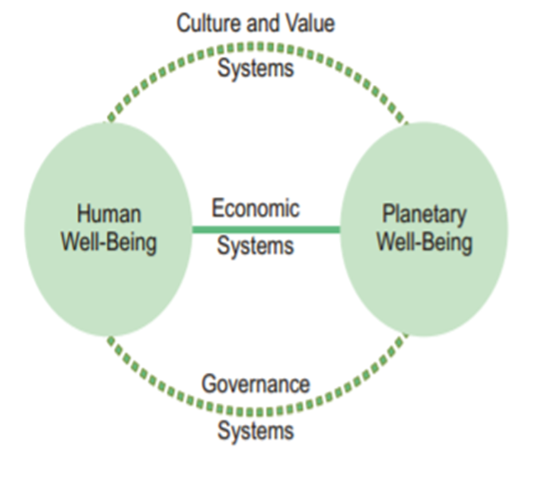 Economy as a driver for Human and Planetary Well-Being