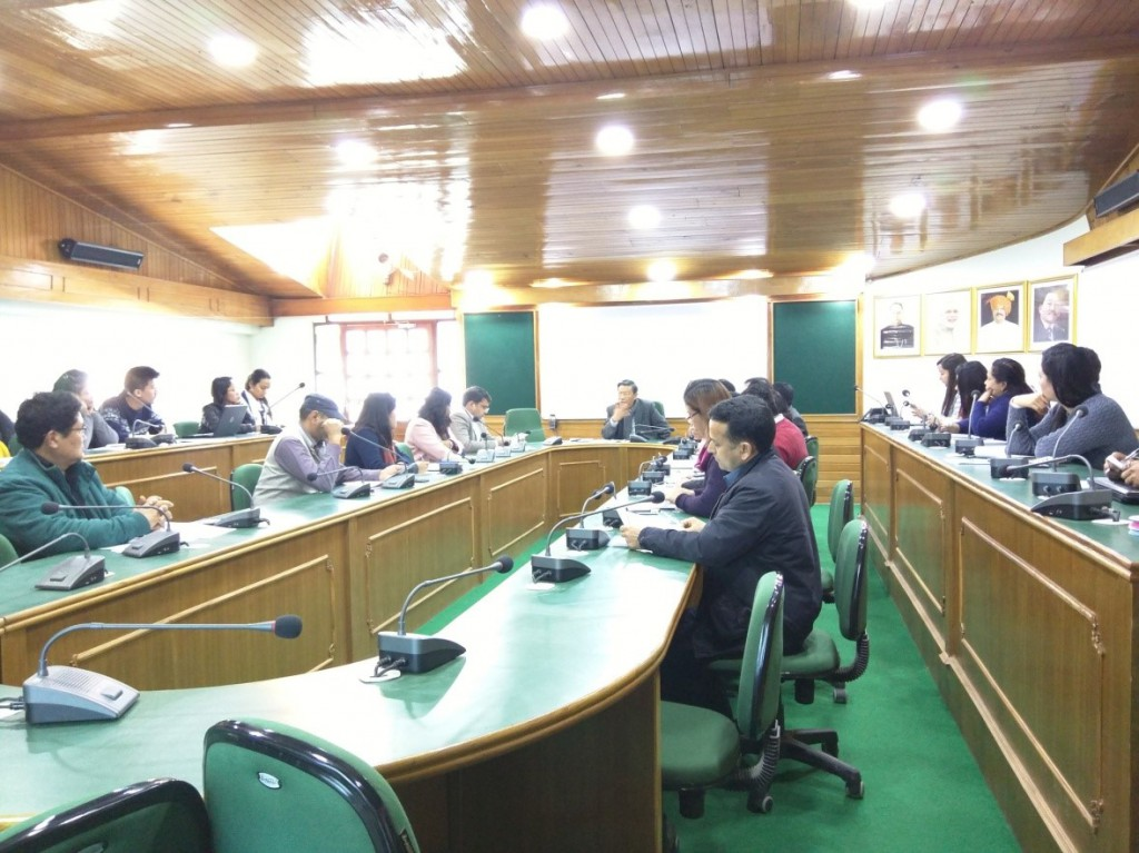 Education Officers and teachers in Sikkim, during a consultation on gap identification for achieving the SDGs in Gangtok, Sikkim (January, 2017)