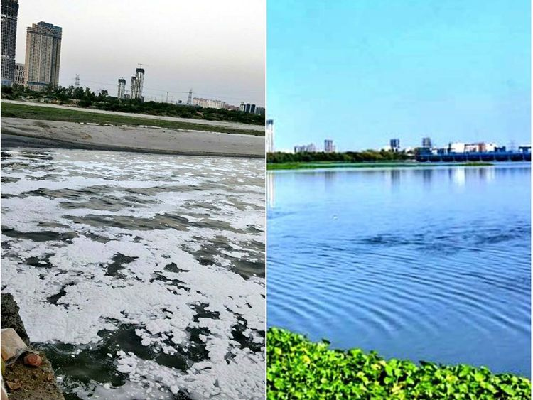 Yamuna River: Then and Now Source: Gulf News